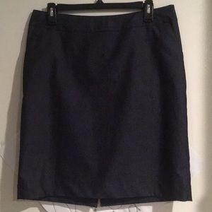 Like NEW Dark Denim Lined Pencil Skirt w/ pockets